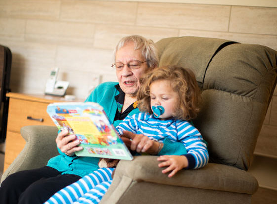 Grandmother Reading to Child