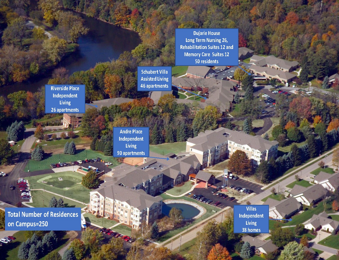 Holy Cross Village Campus Aerial View